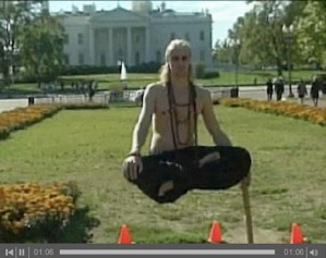Diagram 4: Man levitating in front of the whitehouse